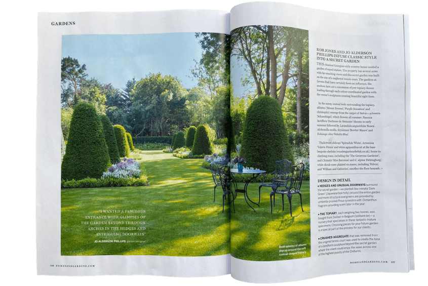 Homes and Gardens feature
