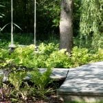 the irresistible swing in the bog garden