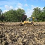 Preparing the 8 acre meadow