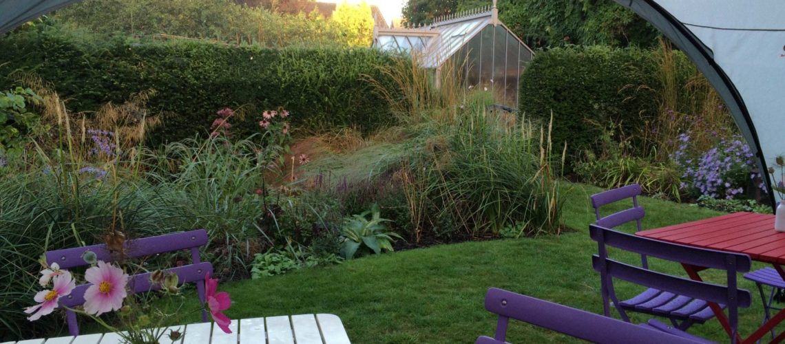 Waiting for the crowds at the NGS Open Day